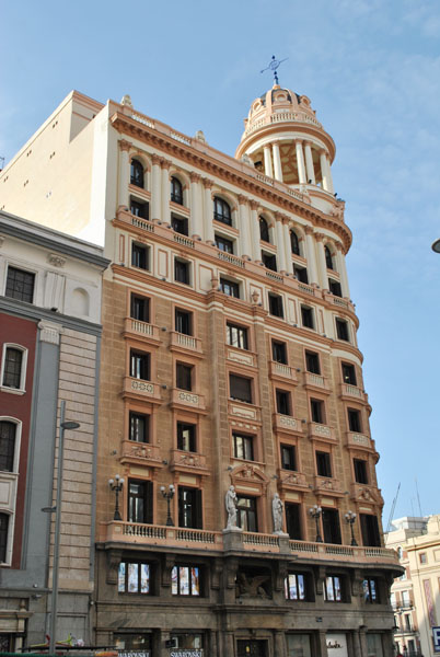 La Adriatica Building on Gran Via in Madrid