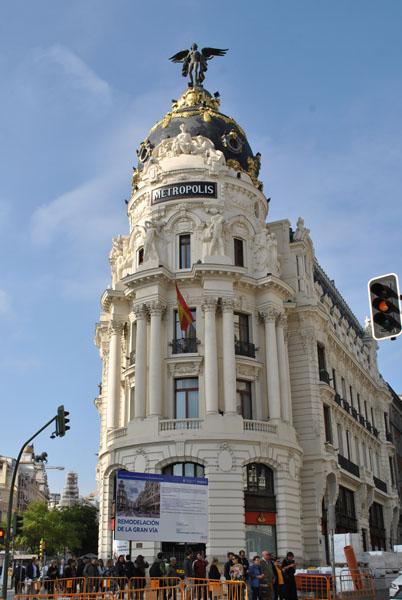 Metropolis Building on Gran Via in Madrid