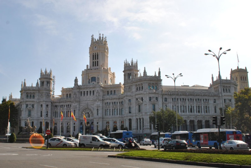 The Cybele Palace in Plaza de Cibeles in Madrid