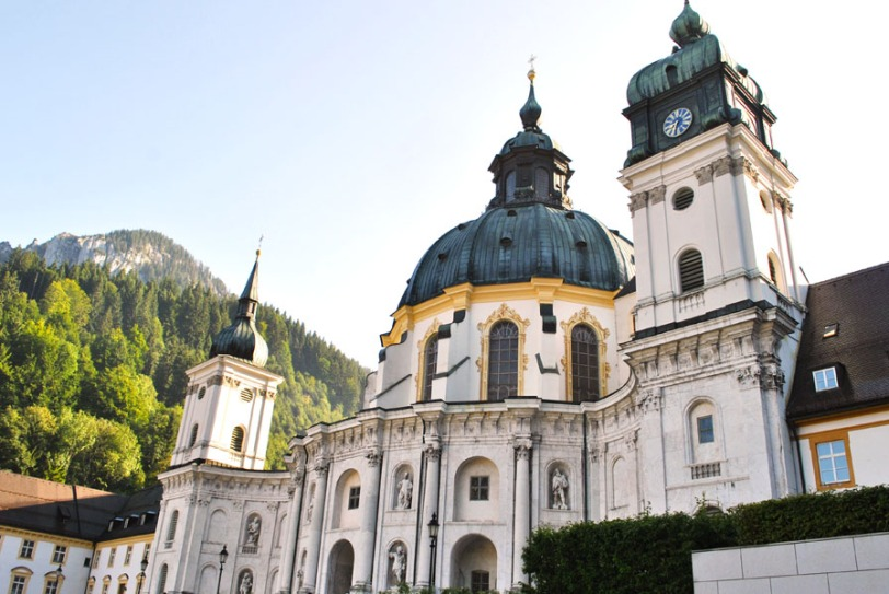 Beautiful Ettal Church in Bavaria