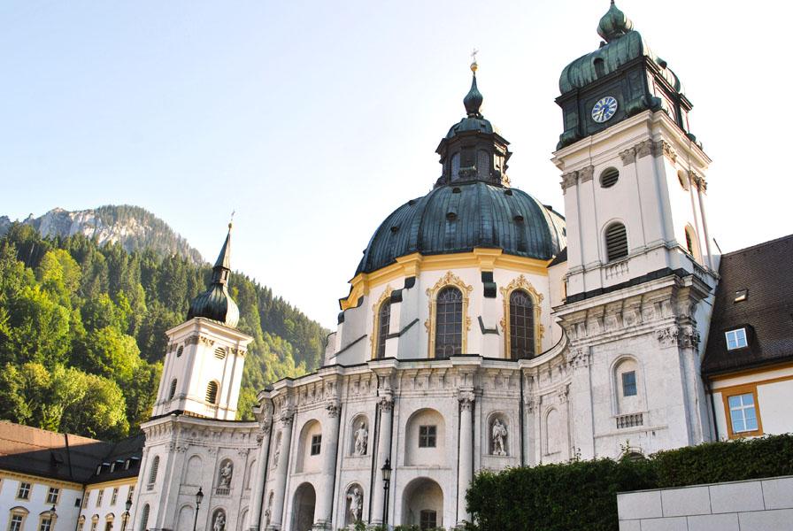 Beautiful Ettal Church in Bavaria