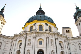 Impressive dome of the Ettal Basilica in Bavaria