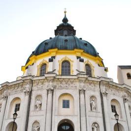 Impressive dome of the Ettal Basilica in Bavaria