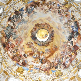 Painted cupola of Ettal Church in Bavaria