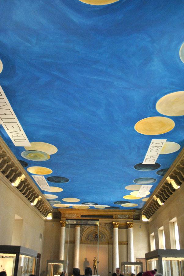 Ceiling inside the Louvre Museum in Paris (2)