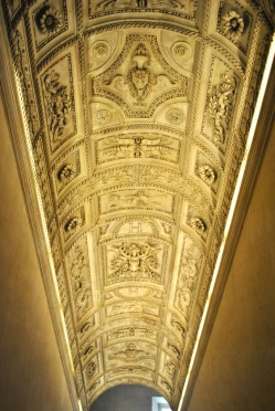 Ceiling inside the Louvre Museum in Paris (3)