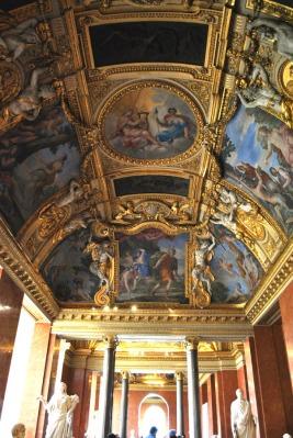 Ceiling inside the Louvre Museum in Paris (4)
