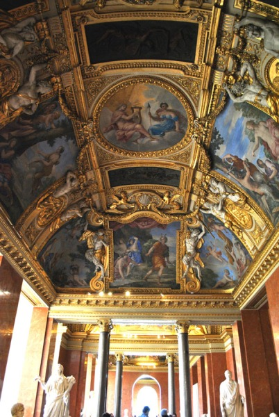 Ceiling inside the Louvre Museum in Paris (4)