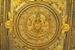 Ceiling inside the Louvre Museum in Paris (5)
