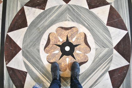 Floor inside the Louvre Museum in Paris (1)