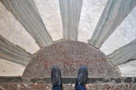 Floor inside the Louvre Museum in Paris (2)