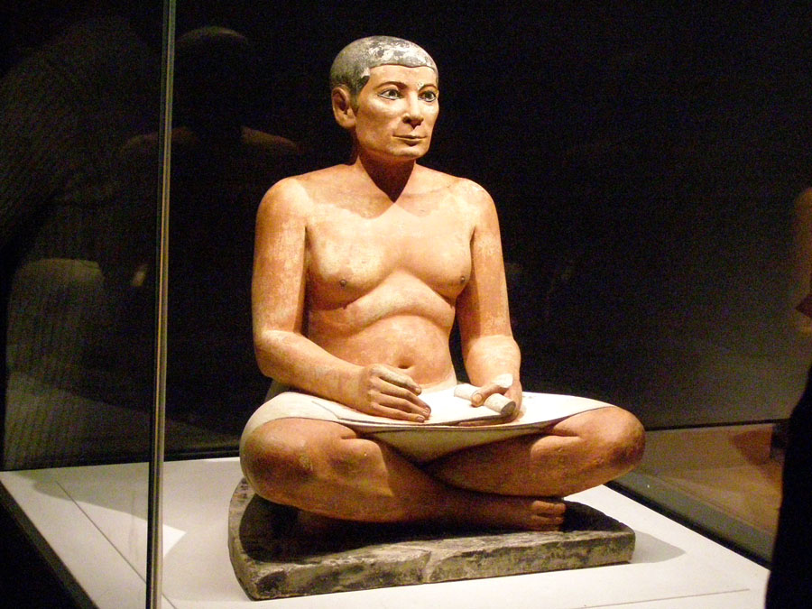 Seated Scribe in the Louvre